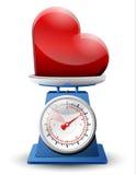 Знак сердца на лотке маштаба Стоковая Фотография