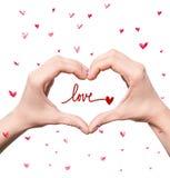 Знак сердца рук Стоковое Изображение