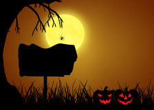 Знак силуэта хеллоуина Стоковое Изображение