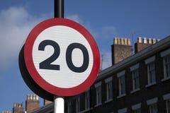 Знак 20 скоростей Стоковое Изображение