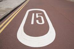 Знак 15 скоростей Стоковые Изображения RF