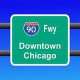 знак скоростного шоссе chicago к иллюстрация штока