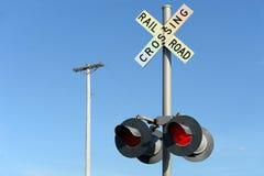 Знак скрещивания железной дороги Стоковое Изображение RF