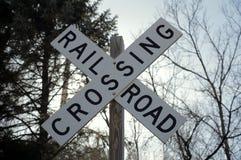 Знак скрещивания железной дороги Стоковая Фотография RF