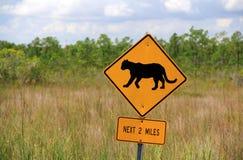 Знак скрещивания пантеры стоковое изображение rf