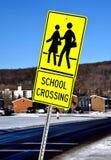 Знак скрещивания школы Стоковая Фотография RF