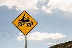 Знак скрещивания ATV Стоковая Фотография RF