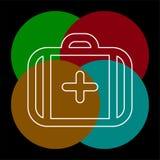 Знак случая вектора медицинский - страхование бесплатная иллюстрация
