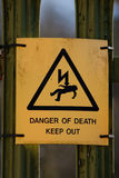 знак смерти опасности Стоковое фото RF