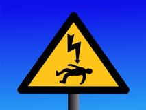 знак смерти от электрического удара опасности Стоковые Изображения