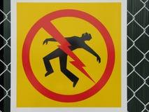 знак смерти от электрического удара опасности Стоковое Фото