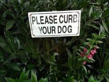 знак собаки обочины ваш Стоковые Изображения RF