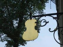 Знак создателя скрипки стоковое фото rf