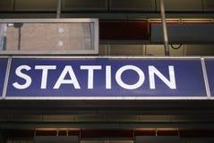 Знак станции Стоковое Фото