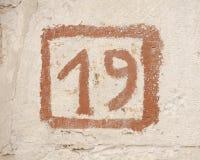 Знак стены 19 Стоковое Изображение