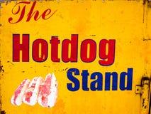 Знак стойки горячей сосиски Стоковые Фото