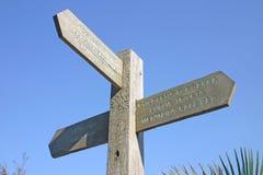 знак столба деревянный Стоковая Фотография RF