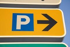 знак стоянкы автомобилей Стоковое Фото
