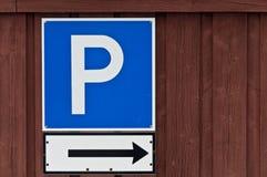 знак стоянкы автомобилей Стоковое фото RF