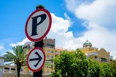 знак стоянкы автомобилей урбанский Стоковое Изображение