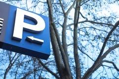 Знак стоянкы автомобилей Стоковые Изображения RF