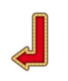 Знак стрелки с лампами Стоковая Фотография RF
