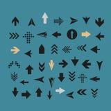 Знак стрелки silhouettes собрание Стоковая Фотография