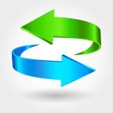 Знак стрелок Голубой зеленый цвет Стоковые Изображения