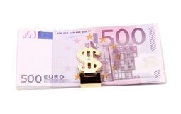 Знак счета 500 и доллара. Стоковое Фото
