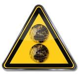 Знак с 2 глобусами мира иллюстрация вектора