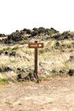 Знак следа Стоковые Изображения RF