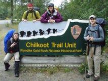 Знак следа Chilkoot Стоковые Фотографии RF