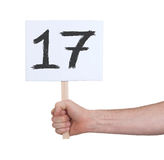 Знак с номером, 17 Стоковые Изображения