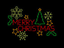 Знак с Рождеством Христовым Стоковое Изображение RF