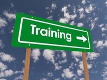 Знак с тренировкой текста  Стоковое Изображение RF