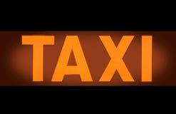 Знак такси светлый Стоковые Изображения RF