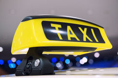 Знак такси Стоковая Фотография RF