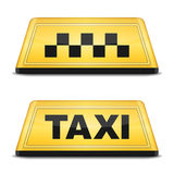 Знак такси Стоковые Изображения