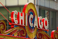 Знак театра Чикаго Стоковые Изображения RF