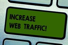 Знак текста показывая движение сети роста Схематическое фото поддерживает количество данных переданных клавиатурой посетителей ме иллюстрация штока