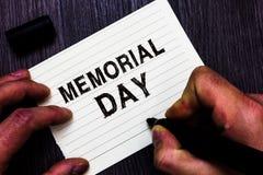 Знак текста показывая День памяти погибших в войнах Схематическое фото, который нужно удостоить и вспомнить тех которые умерли в  стоковое изображение rf