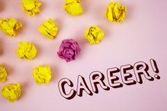 Знак текста показывая карьере мотивационный звонок Схематическое фото находя ваша мечт работа при правильное наведение написанное стоковое фото