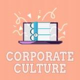Знак текста показывая корпоративную культуру Схематические верования и идеи фото что компания имеет, который делят значения иллюстрация штока