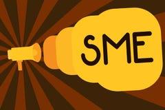 Знак текста показывая малые и средние предприятия Схематическая компания фото с предприятием отсутствие больше чем 500 работников бесплатная иллюстрация