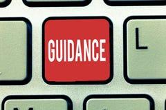 Знак текста показывая наведение Схематические совет или данные по фото направленные на разрешая проблему или затруднение стоковое фото