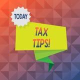 Знак текста показывая подсказки налога Вклад схематического фото принудительный для того чтобы заявить доход собиратый налоги пус бесплатная иллюстрация