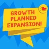 Знак текста показывая расширение запланированное ростом Схематическое фото подвергая дело действию более широкие клиенты сложило  иллюстрация вектора