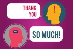 Знак текста показывая спасибо так много Схематическое выражение фото приветствий признательности комнаты посыльного благодарности бесплатная иллюстрация