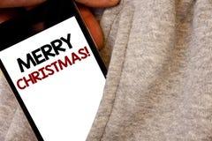 Знак текста показывая с Рождеством Христовым мотивационный звонок Схематическое торжество декабрь курортного сезона фото формулир иллюстрация вектора