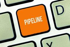 Знак текста показывая трубопровод Расстояния газа масла трубы схематического фото длинные типично подземные транспортируя длинные стоковая фотография